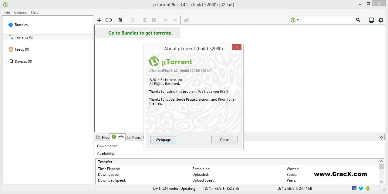 uTorrent Plus 3.4.2 Crack + Activation Key Code Full Download