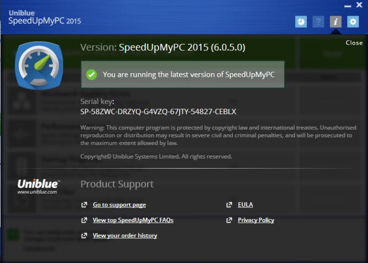 Uniblue System Tweaker 2015 Serial Key Full Free Download