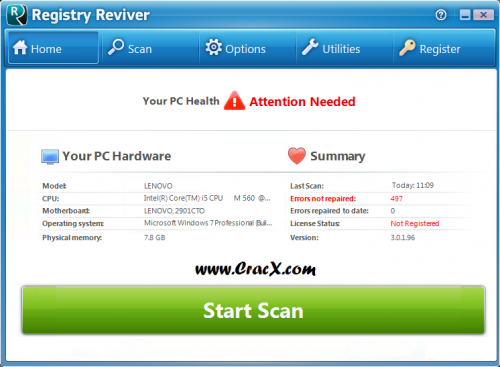 Registry Reviver Product Key Crack 2015 Free Download