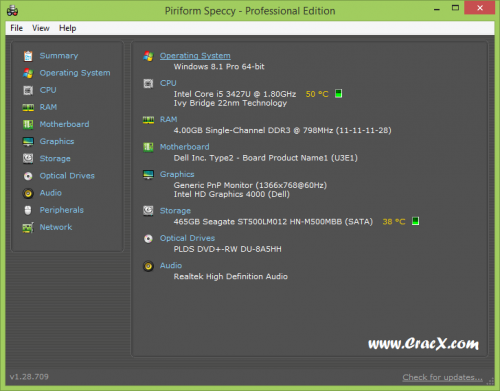 Speccy Professional Key 1.28.709 Crack Full Free Download