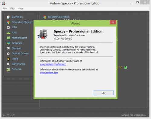 Speccy Professional Keygen 1.28 License Key Free Download
