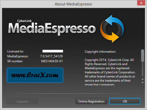 Cyberlink MediaEspresso 7 Keygen, License Key Full Download