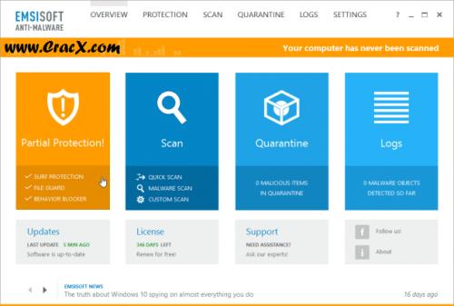 Emsisoft Anti-Malware 10 Crack + Keygen Full Free Download