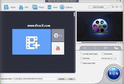 WinX HD Video Converter Deluxe 5.6 Keygen Free Download