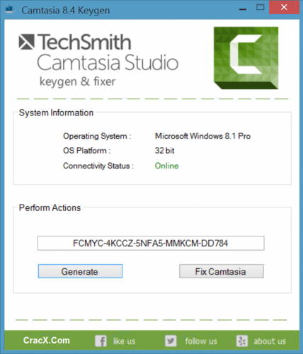 Camtasia Studio 8 Key + Universal Keygen [100 Working] Free