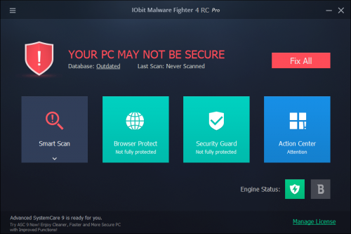 IObit Malware Fighter Pro 4 Serial Key + Patch Free Download