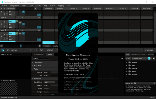Resolume Avenue 4.5.2 Serial Number + Patch Free Download