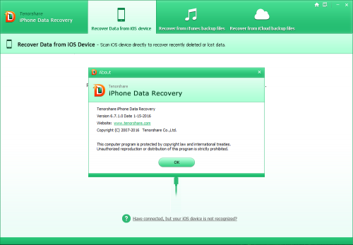 Tenorshare iPhone Data Recovery 6.7 Full Key Crack Free Download