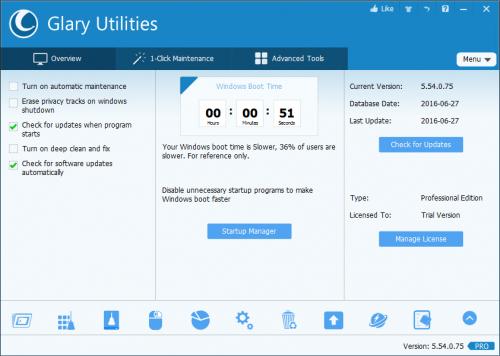 Glary Utilities Pro 5.54 License Cde & Keygen Free Download