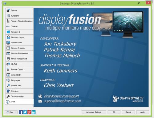 DisplayFusion Pro 8.0 Registration Key + Crack Free Download