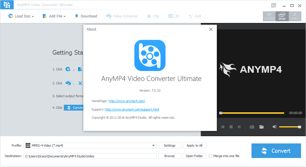 AnyMP4 Video Converter Ultimate 7.0.52 Patch & Key Download