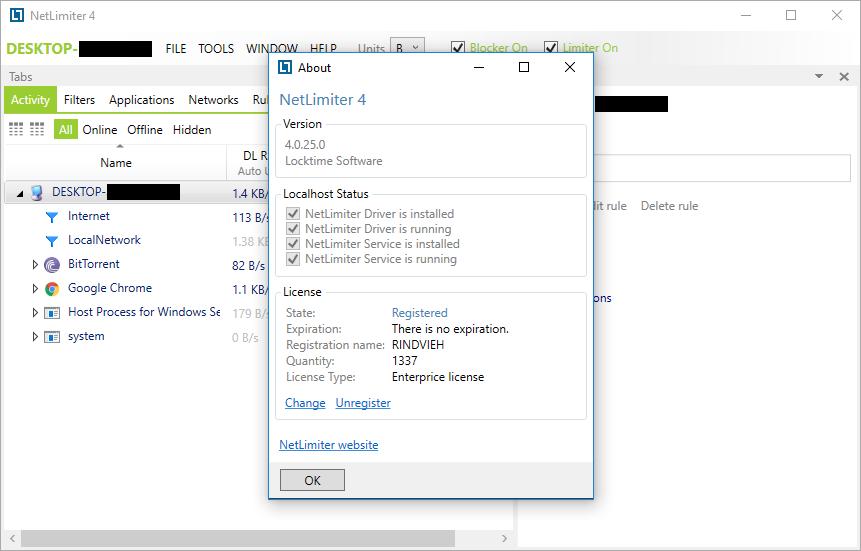 NetLimiter Enterprise 4.0.25.0 Full Crack & Keygen Download