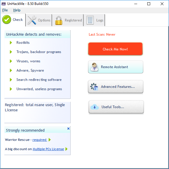 UnHackMe 8.50 Build 550 Serial Key + Patch Free Download