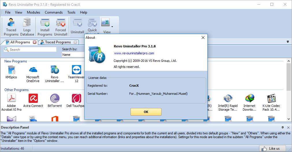 Revo Uninstaller Pro 3.1.8 Keygen & Crack Download