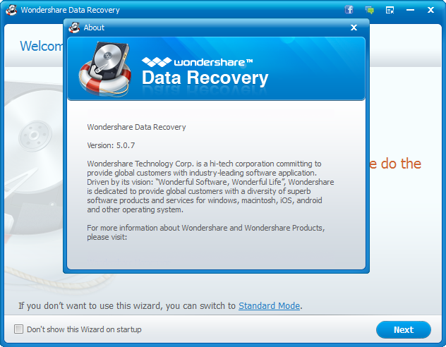 Wondershare Data Recovery 5.0.7.8 Patch & Keygen Download