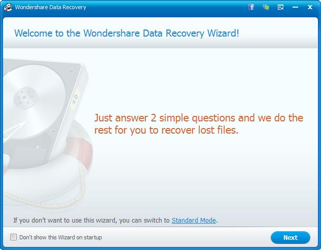 Wondershare Data Recovery 5.0.7.8 Serial Key Full Download