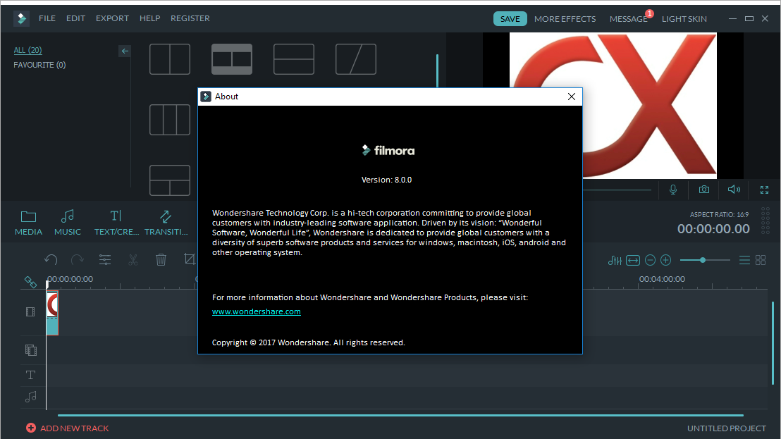 Wondershare Filmora 8.0 Keygen + Serial Key Free Download