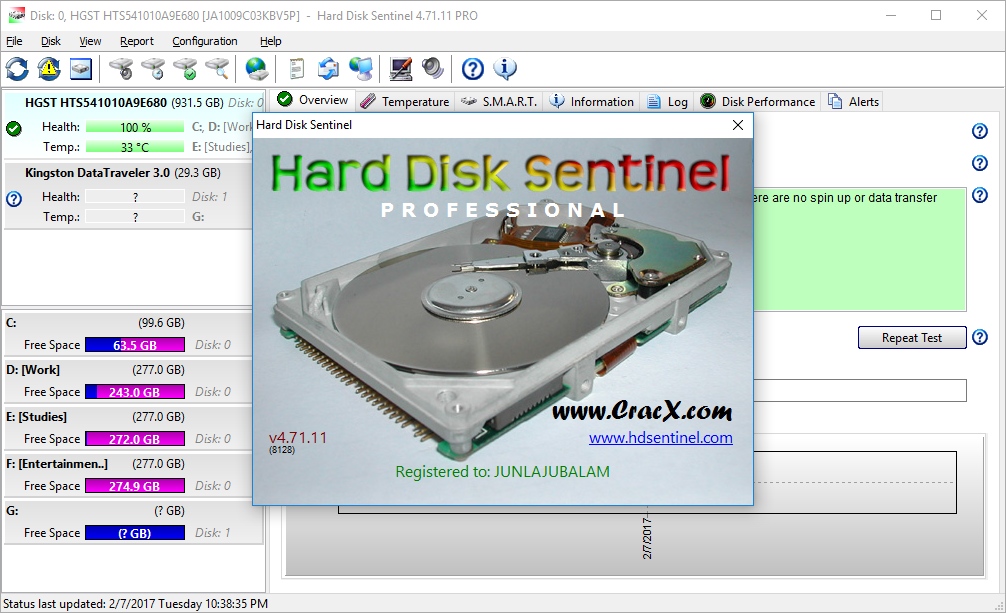 Hard Disk Sentinel Pro 4.71 License Key & Crack Download