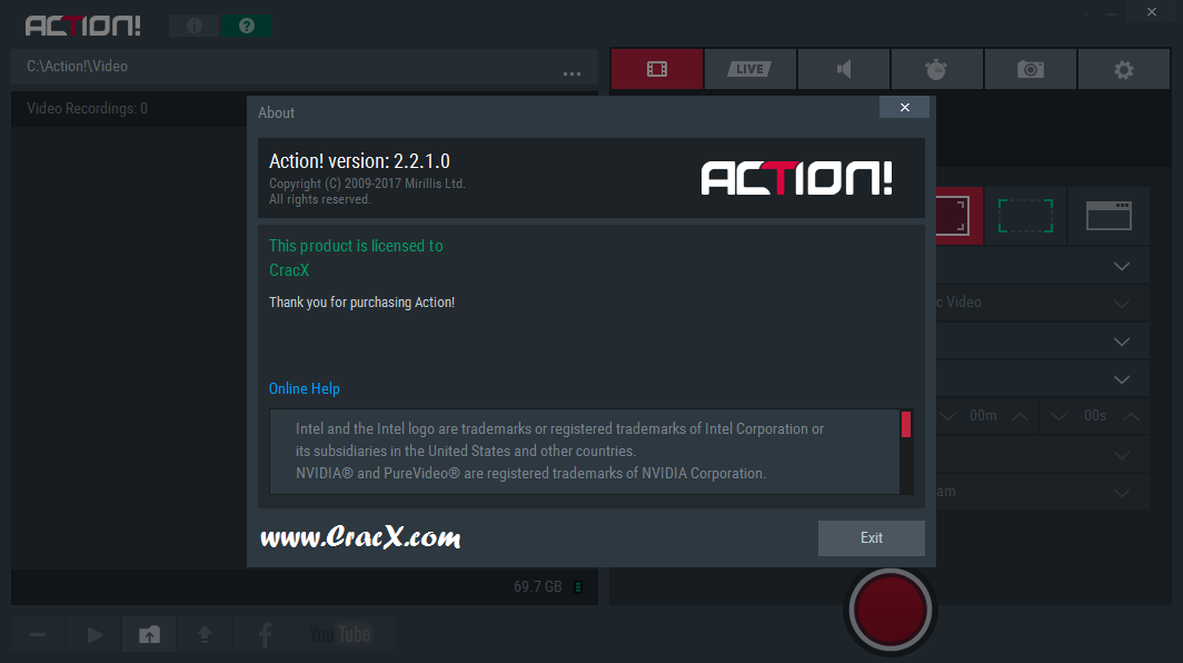 Mirillis Action! 2.2.1 License Key & Activator Download
