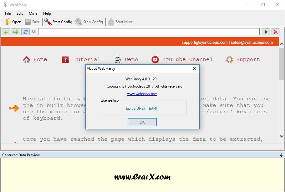 WebHarvy 4.0.3.129 Patch & Keygen Latest Download
