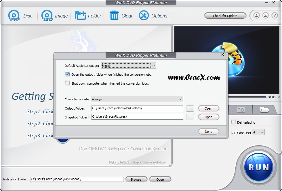 WinX DVD Ripper Platinum 8.0 Patch & Keygen Free Download