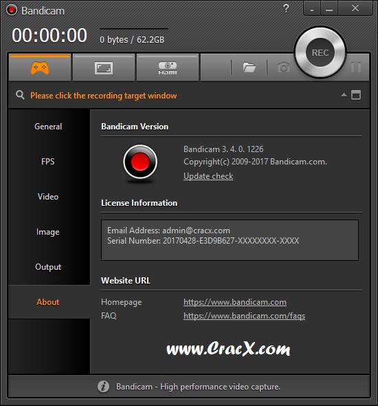 Bandicam 3.4.0.1226 Activator Keygen & Crack Download