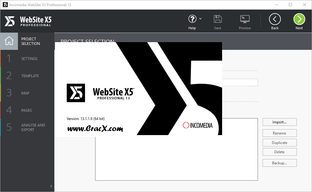 Incomedia WebSite X5 Professional 13.1.1.9 + Serial Key Download