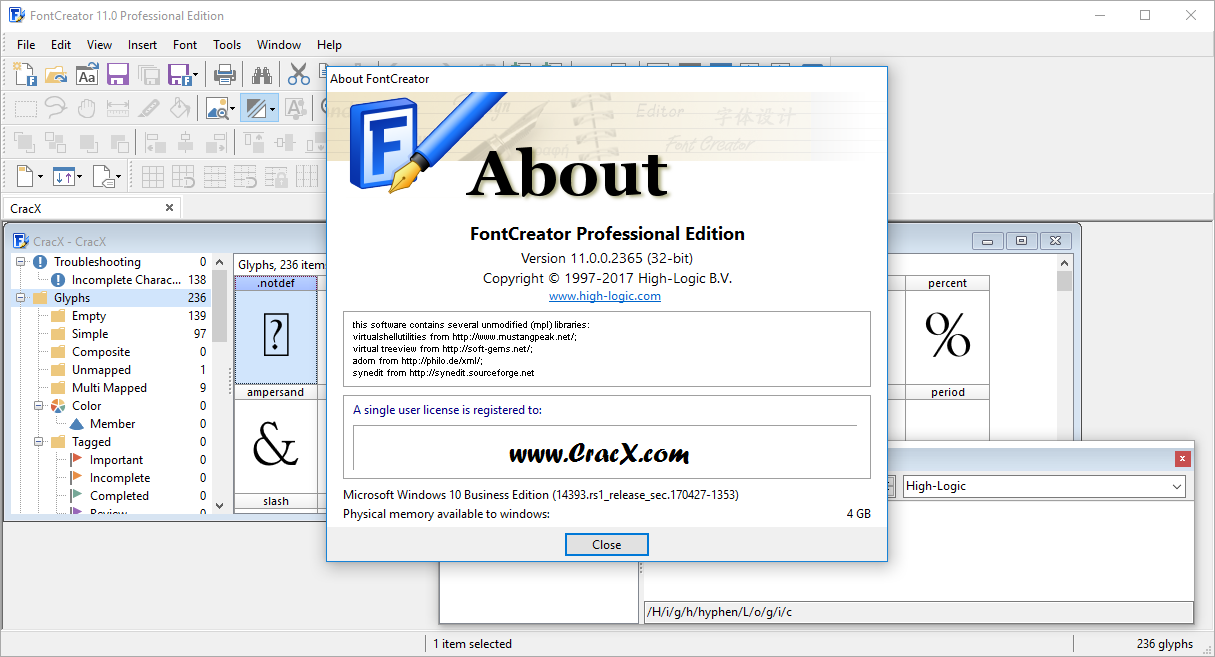FontCreator Professional Edition 11.0.0.2365 Cracked Download