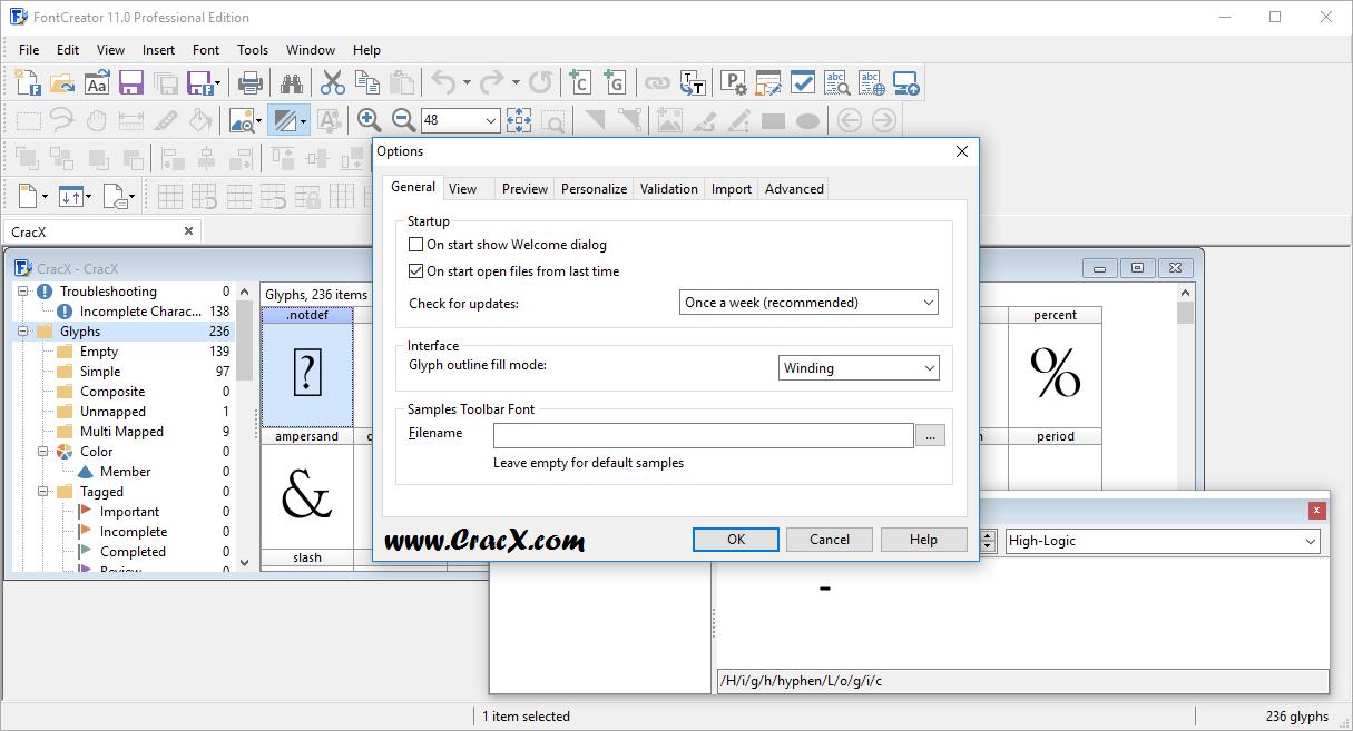 FontCreator Professional Edition 11.0.0.2365 Keygen Download