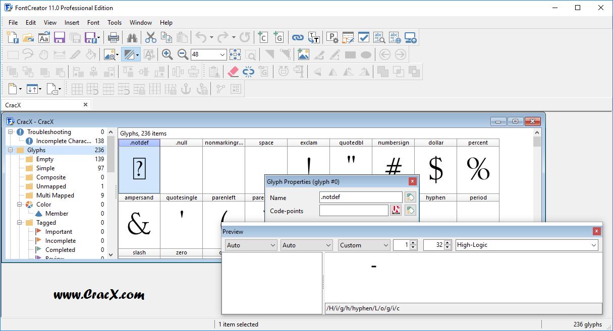 FontCreator Professional Edition 11.0.0.2365 Patch Download
