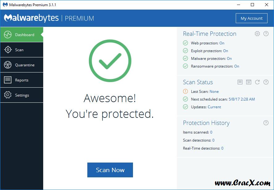 Malwarebytes Premium 3.1.1.1722 Beta + Crack Download