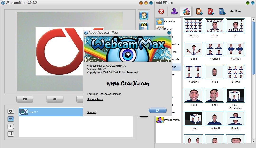 WebcamMax 8.0.5.2 Serial Key & Patch Final Download