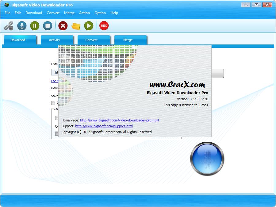 Bigasoft Video Downloader Pro 3.14.9.6448 + Serial Key Download