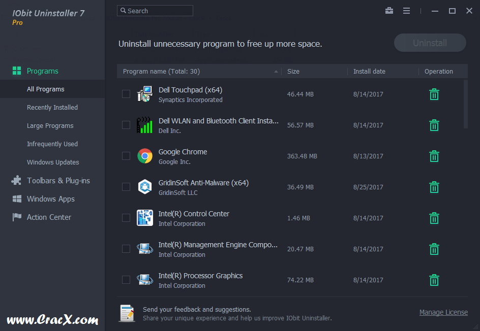 IObit Uninstaller Pro 7.0.2.32 License Key & Crack Download