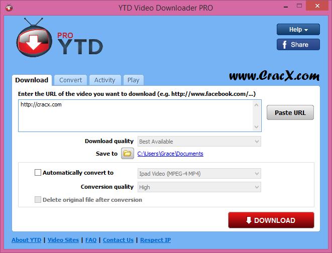 YTD Video Downloader PRO 5.8.7 License Key + Patch Download