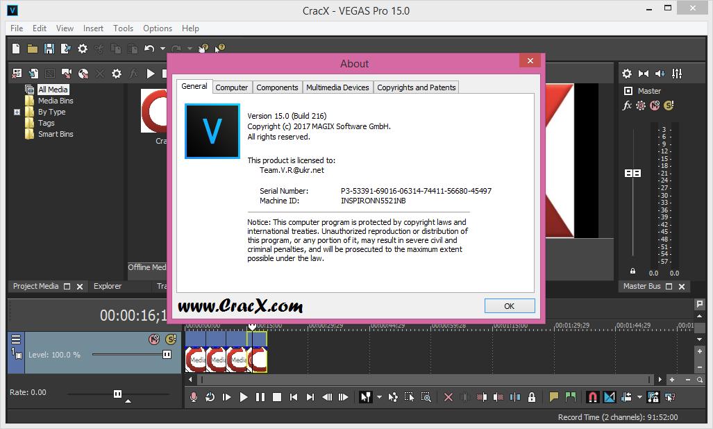 MAGIX VEGAS Pro 15.0.0.216 Keygen + Activator Download