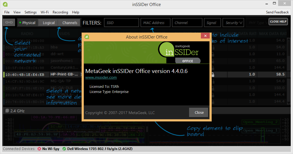 inSSIDer Office 4.4.0.6 Patch & Serial Number Download