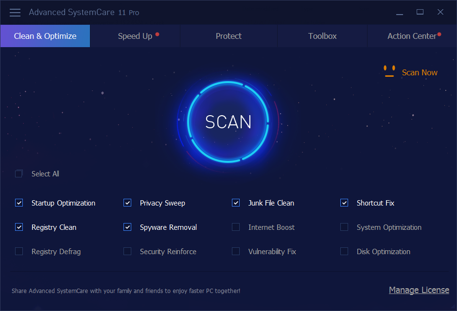 Advanced SystemCare Pro 11.0.3.186 Serial Key Download
