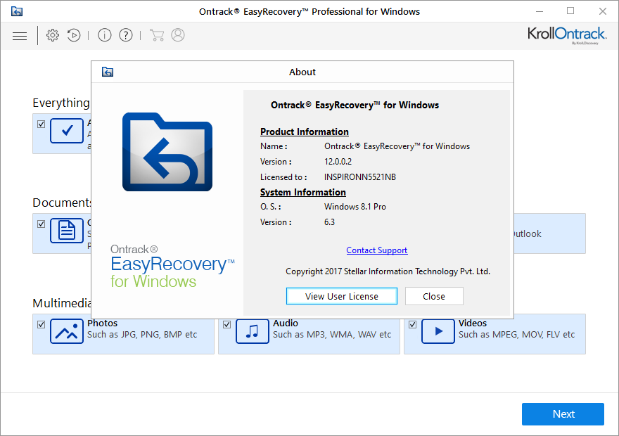 Ontrack EasyRecovery Professional 12.0.0.2 + Activator Download