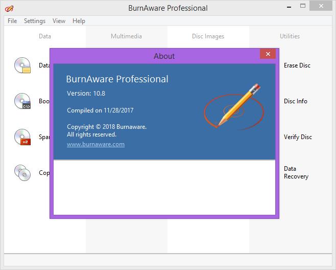 BurnAware Professional 10.8 Keygen & Activator Download