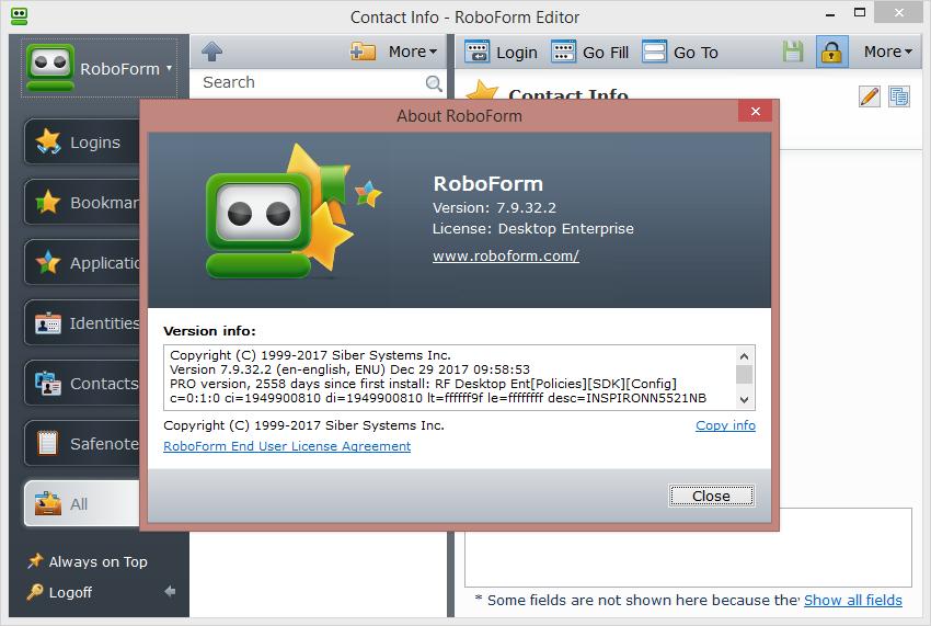 AI RoboForm Enterprise 7.9.32.2 Keygen & Activator Download