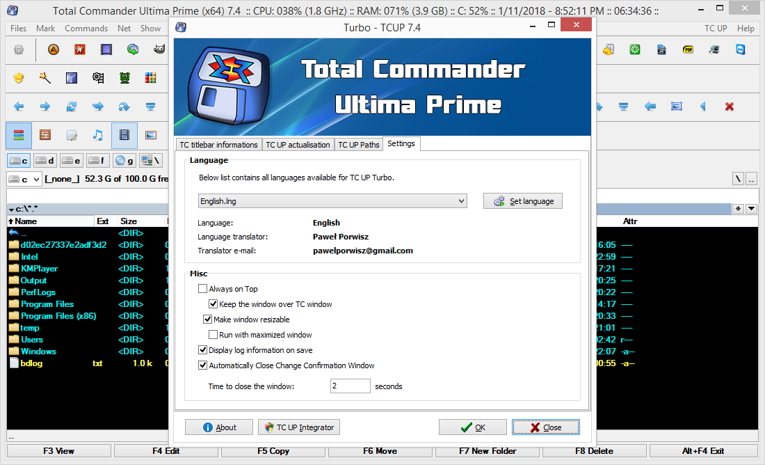 Total Commander Ultima Prime 7.4 Patch & License Key Download