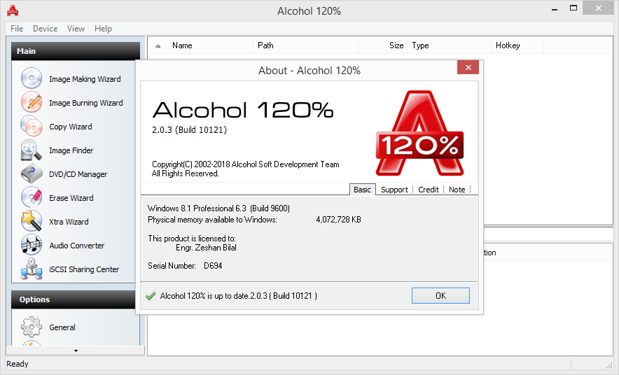 Alcohol 120% 2.0.3 Build 10121 Keygen & Activator Download