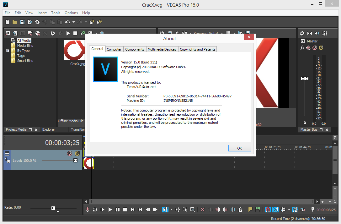 MAGIX VEGAS Pro 15.0.0.311 Keygen & Activator Download