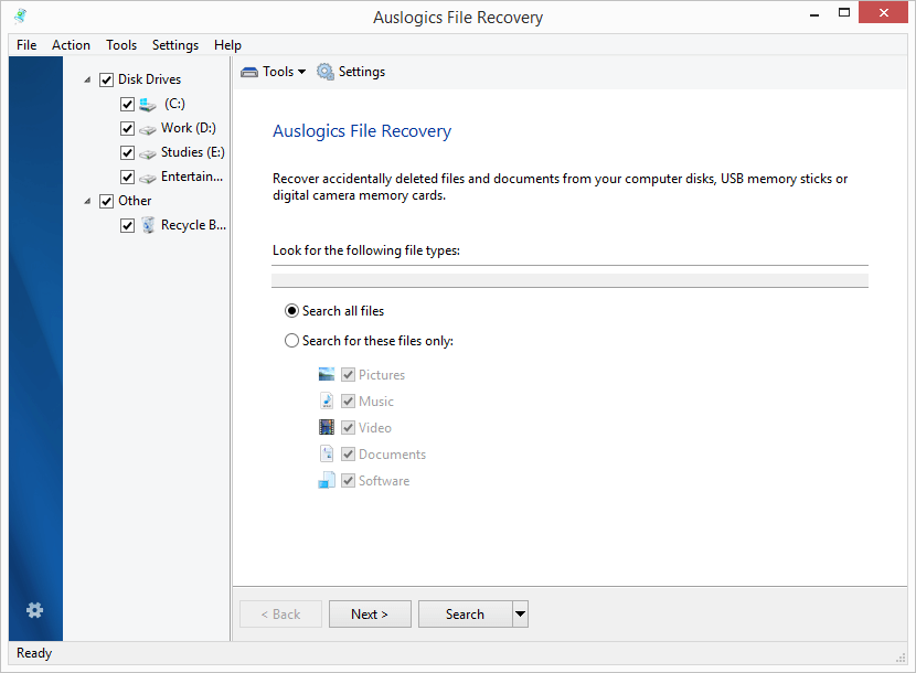 Auslogics File Recovery 8.0.6.0 Serial Key & Crack Download