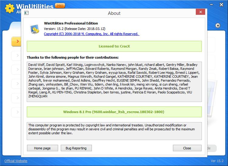 WinUtilities Professional Edition 15.2 Keygen & Activator Download