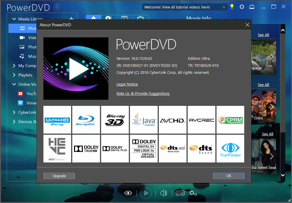 CyberLink PowerDVD Ultra 18.0.1529.62 + Keygen {2018} Download