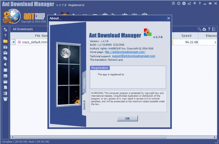 Ant Download Manager Pro 1.7.8 Crack & Serial Key Download