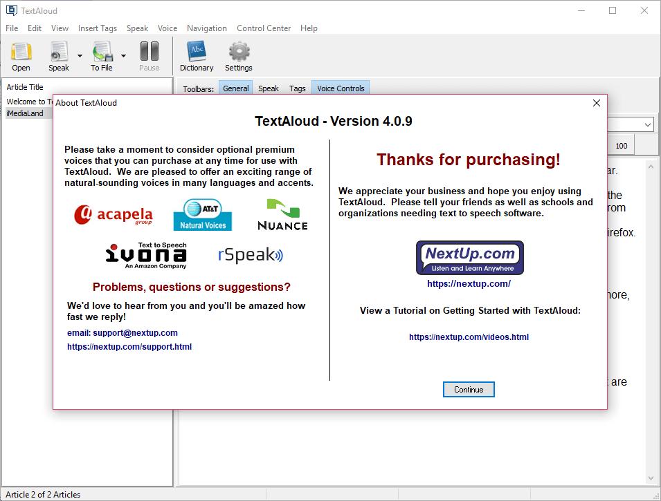 NextUp TextAloud 4.0.9 Full Keygen & Activator Download