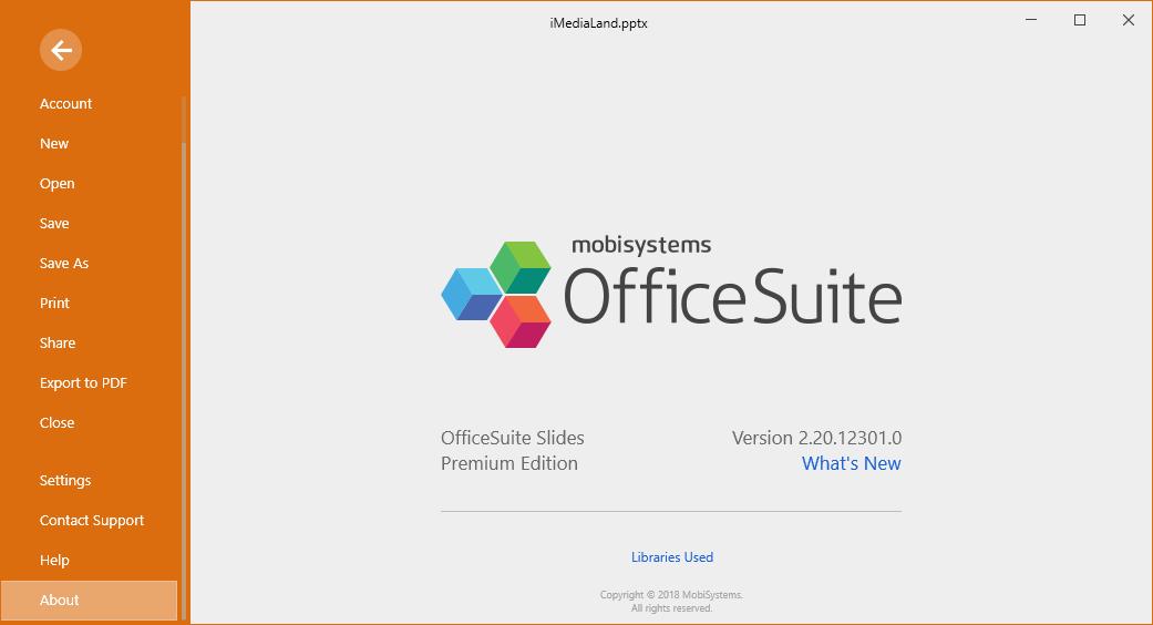 OfficeSuite Premium Edition 2.20.12301.0 License Key Download